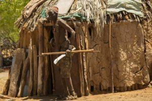 Guerrero con lanza. Namibia