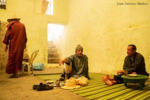 Té en Jmaa Fna. Marruecos