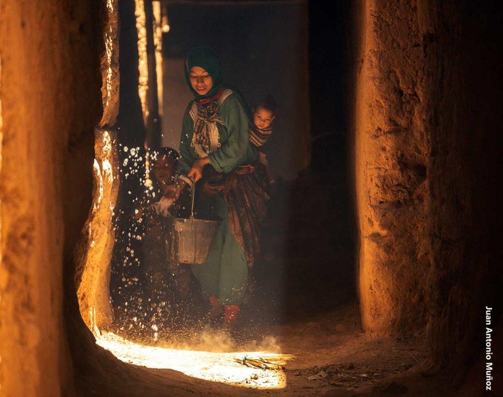 Refrescando la calle. Marruecos