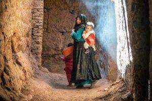 Madre con niños. Marruecos
