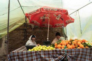 Miradas bajo la sombrilla. Marruecos