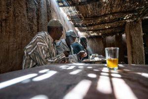 Negociando con un té. Marruecos