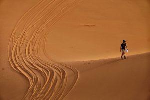 Roderas en dunas. Marruecos