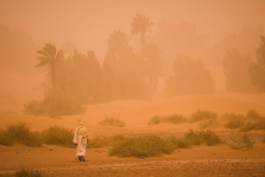 Tormenta en el desierto. Marruecos