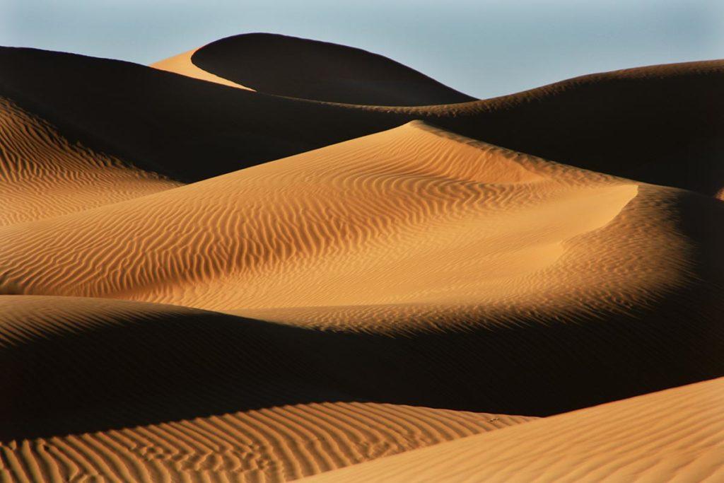 Curvas de dunas. Marruecos