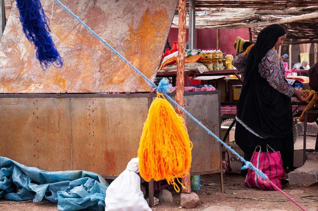 Mercado Agdz. Marruecos
