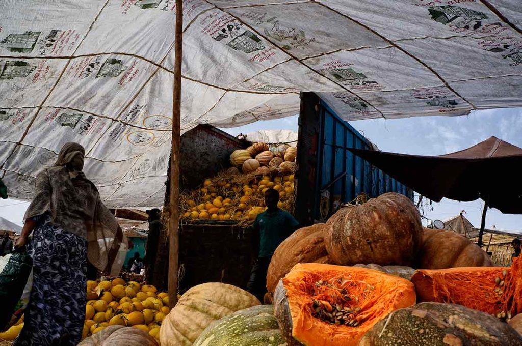 Camión y calabazas. Marruecos