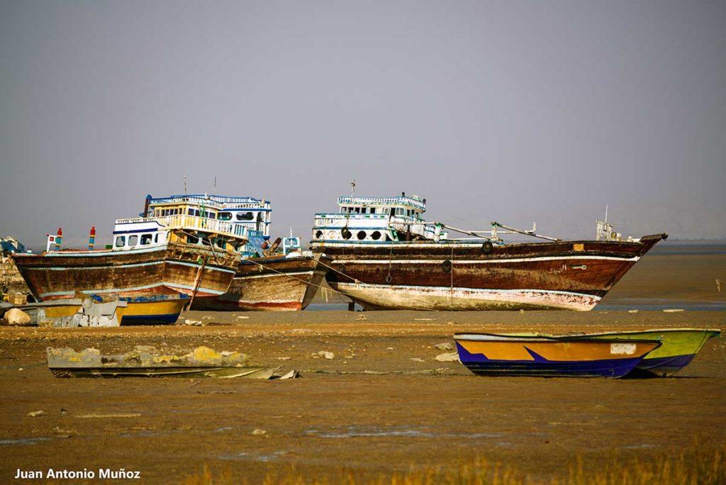 Barco en Golfo Pérsico. Irán