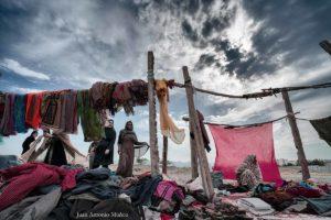 Cielo en mercado de Minab. Iran