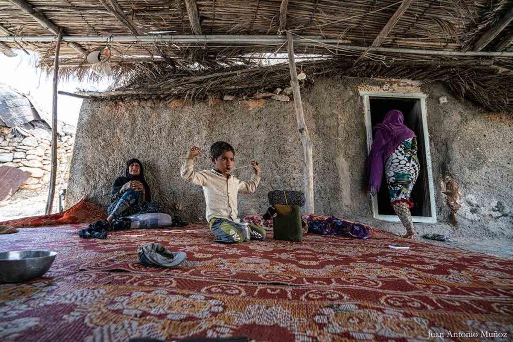 Familia del desierto. Irán