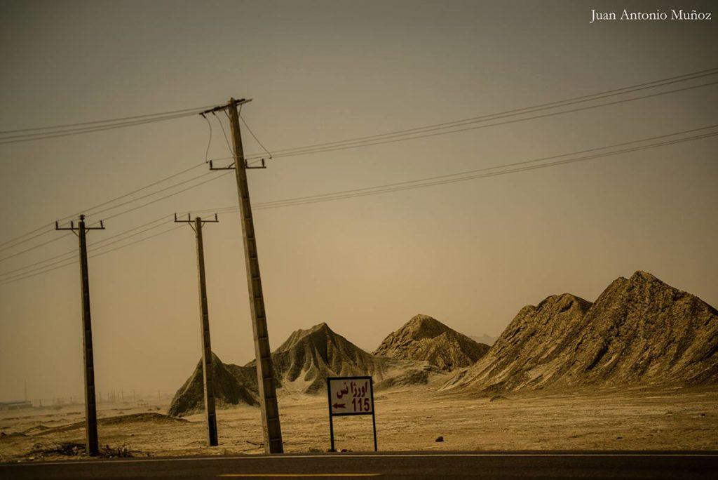 Carretera desierto. Irán