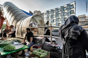 Puestos callejeros Tajrish. Teheran