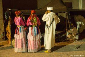 Músicos en la tienda. Marruecos
