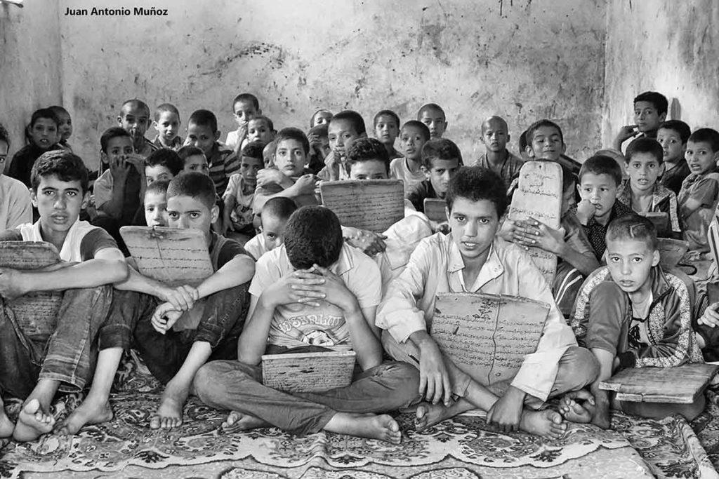 Escuela coránica. Marruecos