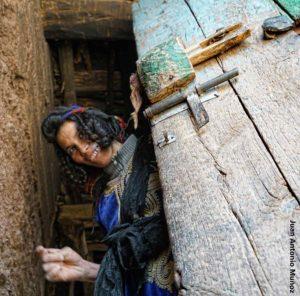 Bereber y peinado. Marruecos