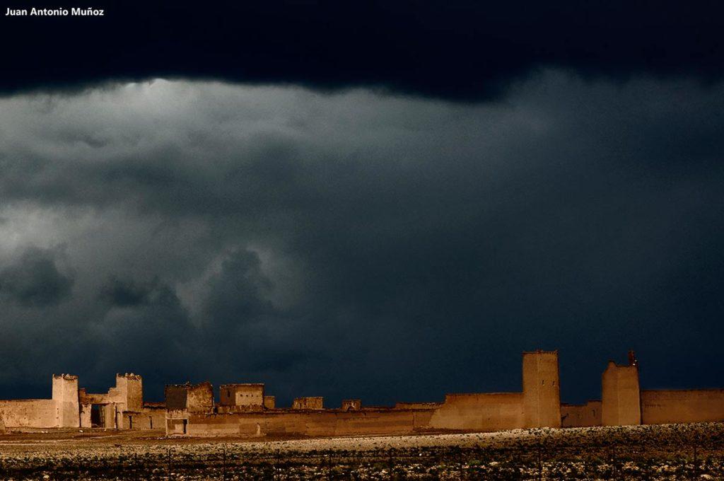 Tormenta kasba. Marruecos