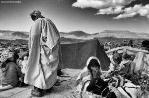 Bereber capa Imilchil. Marruecos