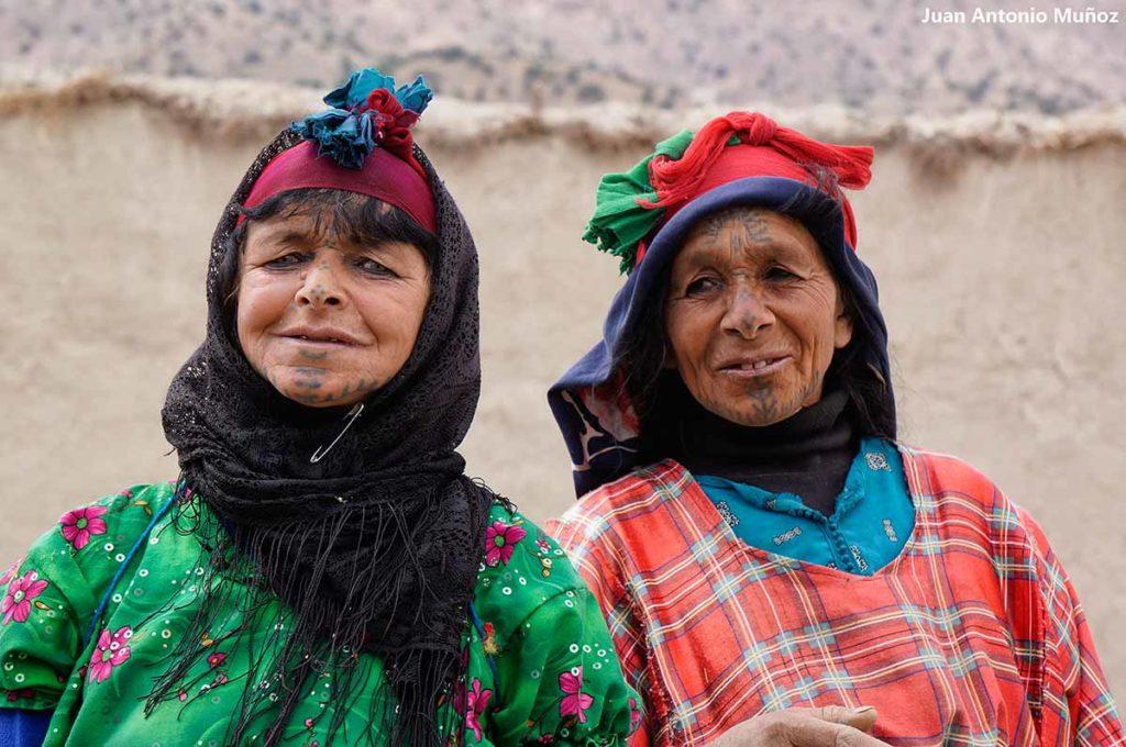 Mujeres tatuajes. Marruecos