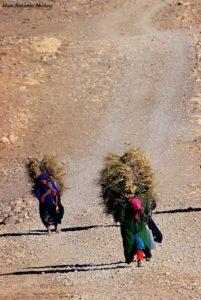 Cargando en Agoudal. Marruecos