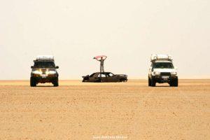 Chatarra en desierto. Marruecos