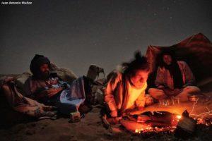 Camp noche estrellada. Marruecos