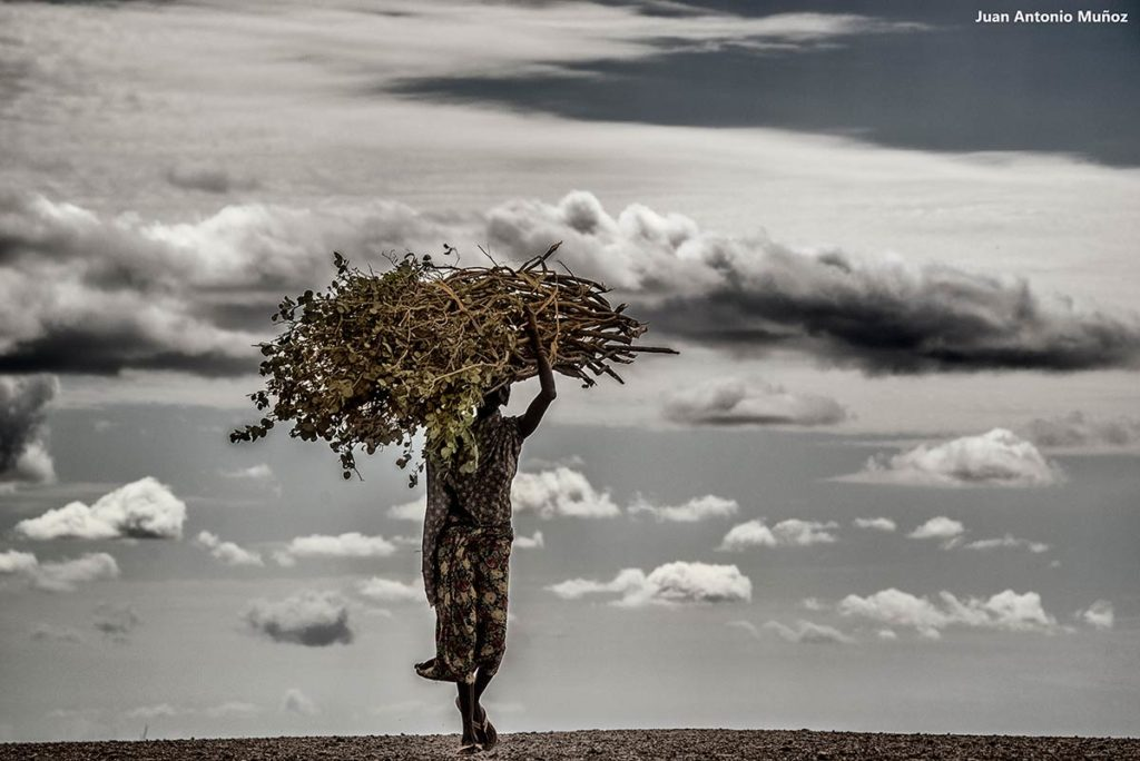 Turkana. con fardo. Kenia