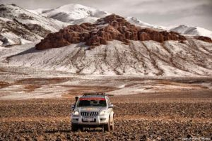 Toyota en nieve. Marruecos
