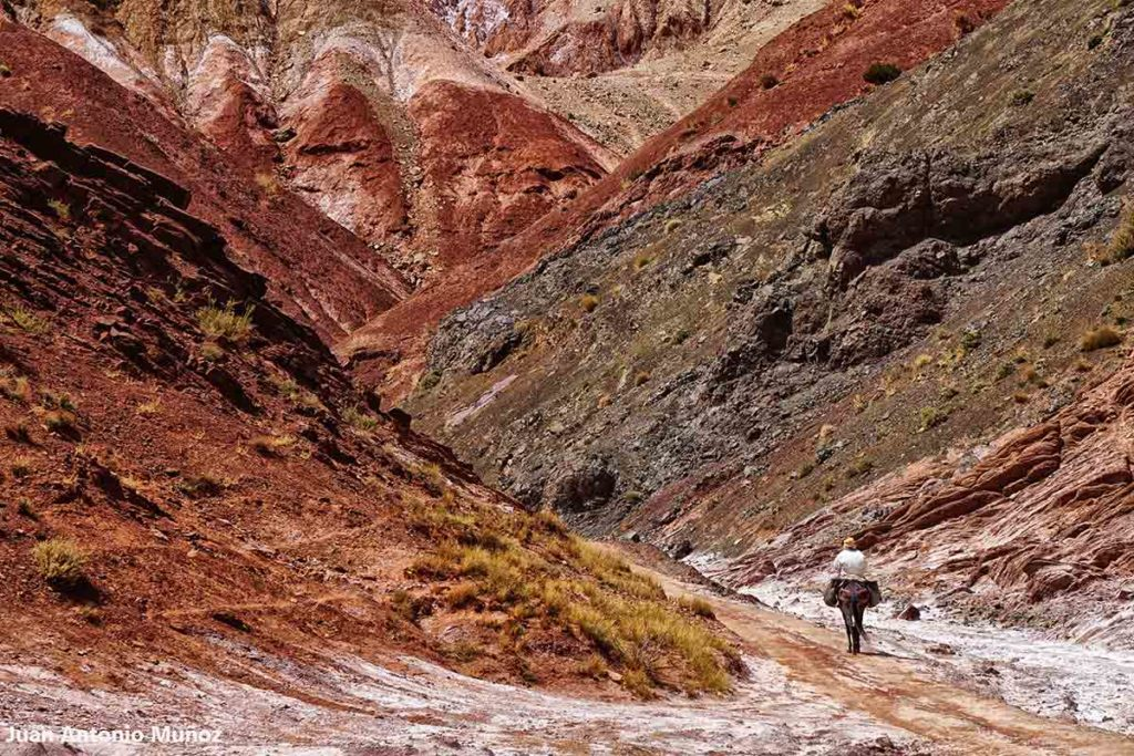 Cabalgando en mina de sal. Marruecos