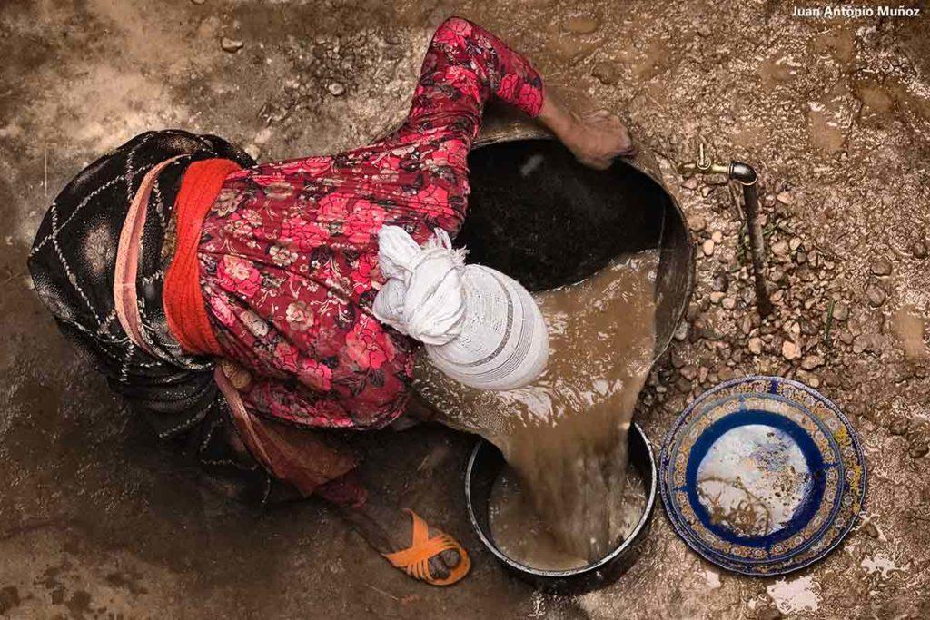 Lavandera desde arriba. Marruecos