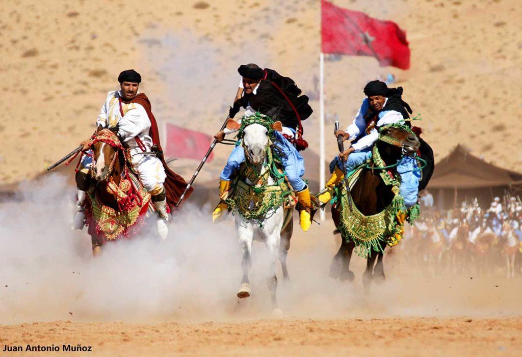 Galopando en Moussem. Marruecos