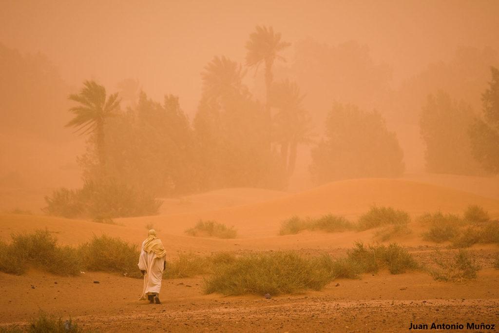 Tormenta en Nesrate. Marruecos