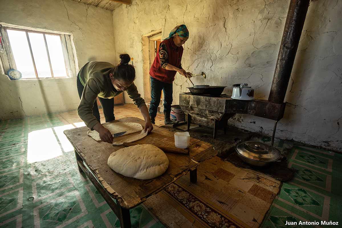 Cocina de cazador. Mongolia