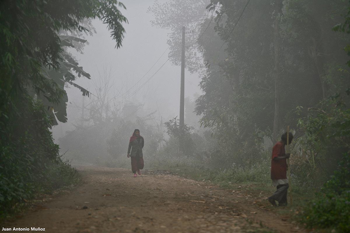 Limpiando camino. Nepal
