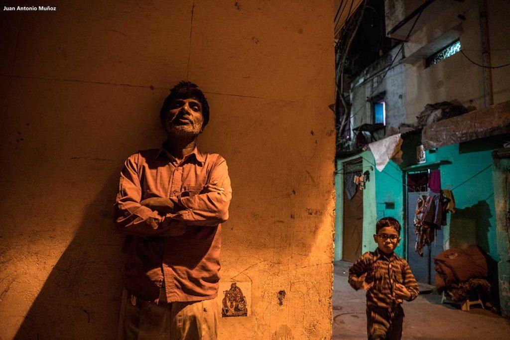 Calle en Delhi. India