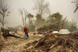 Carromato y paisana. Nepal