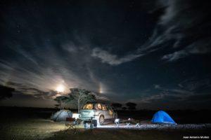 Campamento nocturno. Marruecos