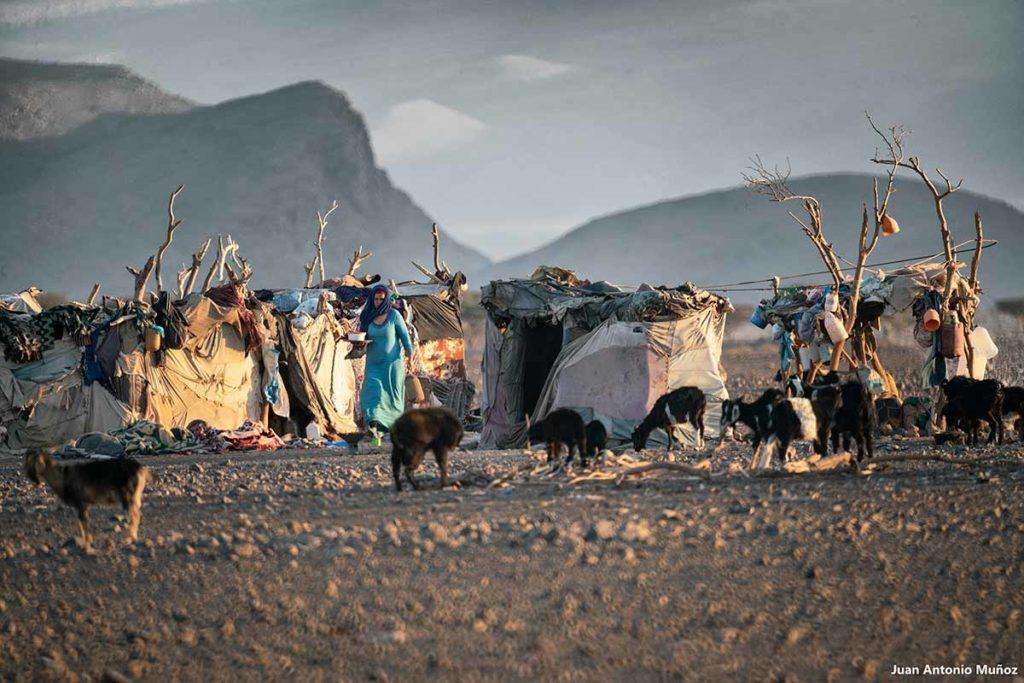 Campamento nómada Laoudi. Marruecos