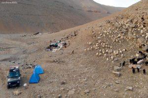 Camp con nómadas. Marruecos