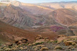 Rocas y color Atlas. Marruecos