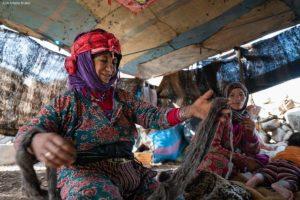 Bereber con lana. Marruecos