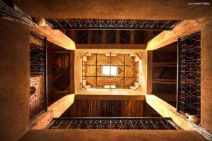 Dar Kamar patio. Ouarzazate