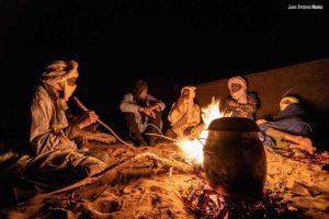 Cenando camp. Marruecos