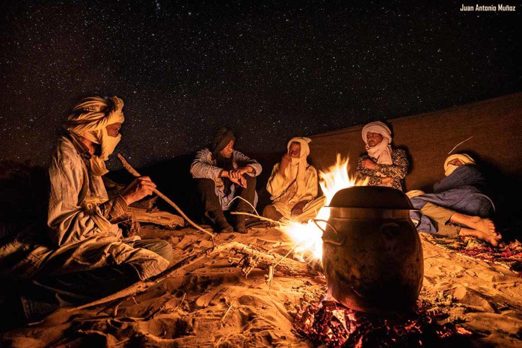 Cena en camp. Marruecos