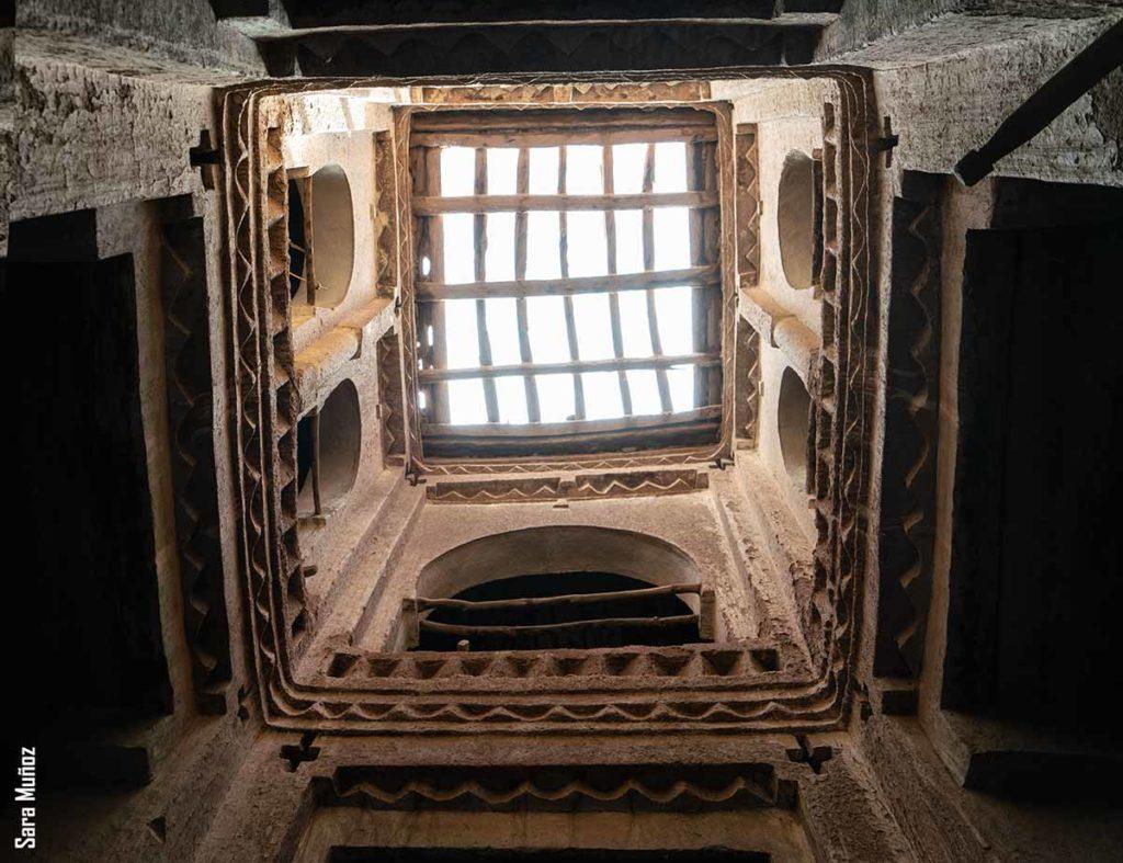 Interior kasbah. Marruecos